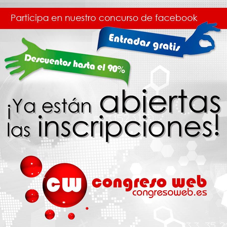 Entradas gratis para Congreso Web 2013