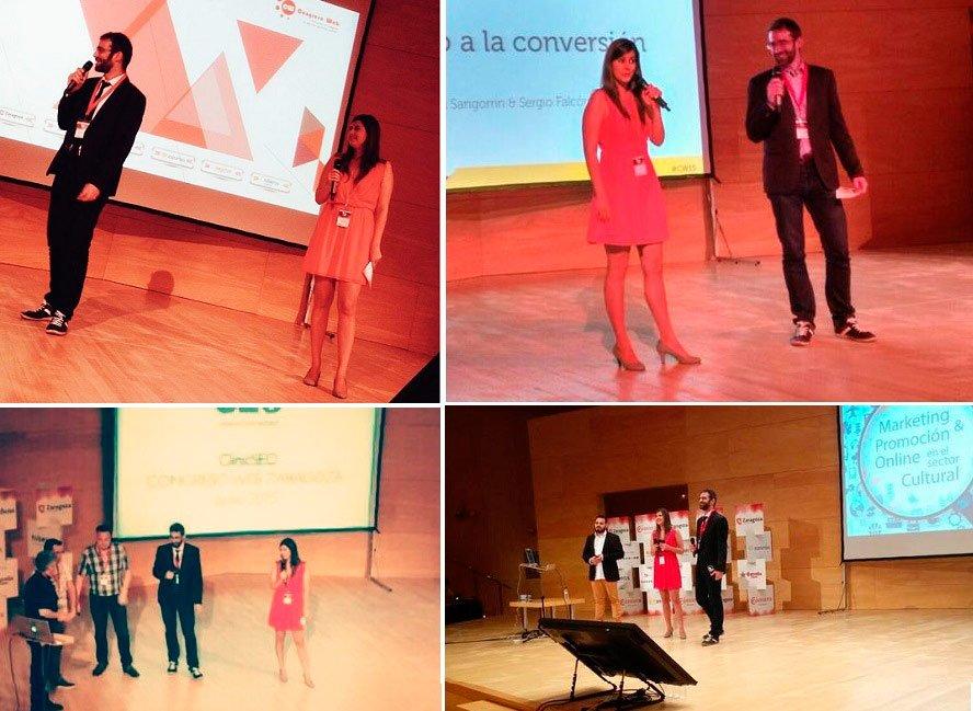 Presentadores de la Sala Galve de Congreso Web 2015