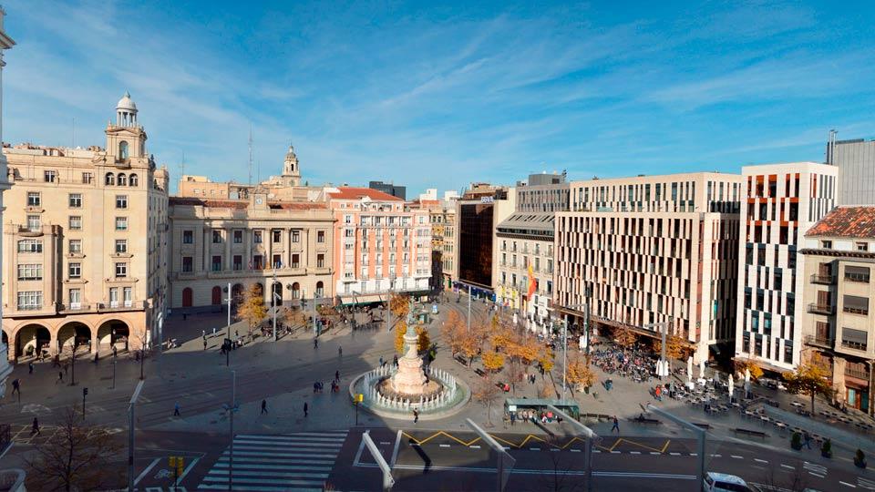 Viviendas y afluencia de Plaza España