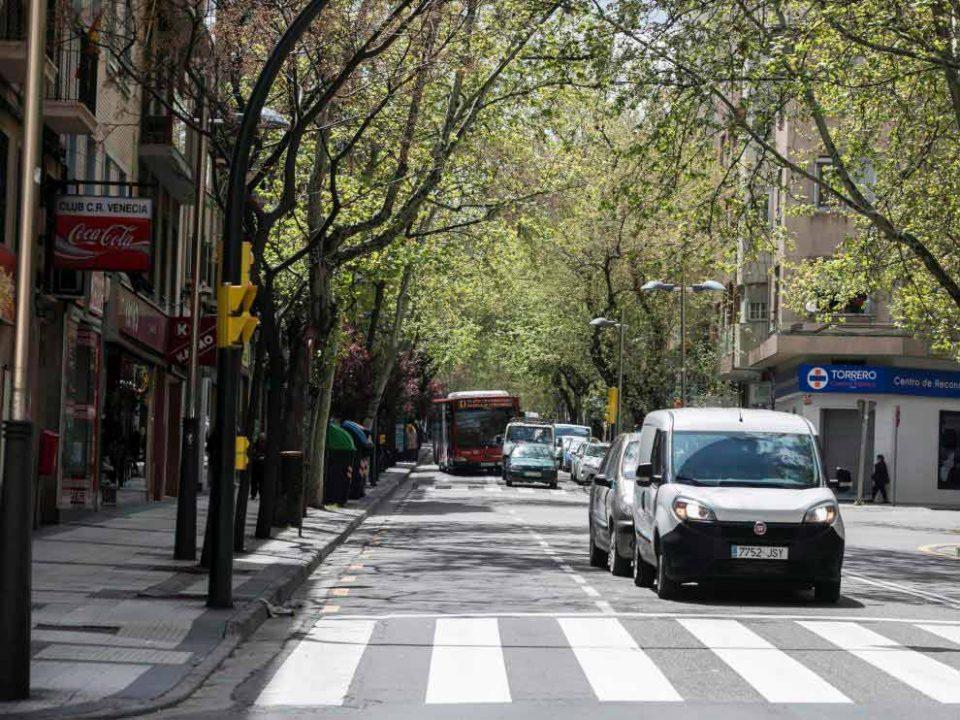 Vista de la Avenida América en el barrio Torrero