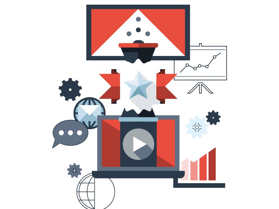 Imagen diseñada sobre tipos de publicidad online