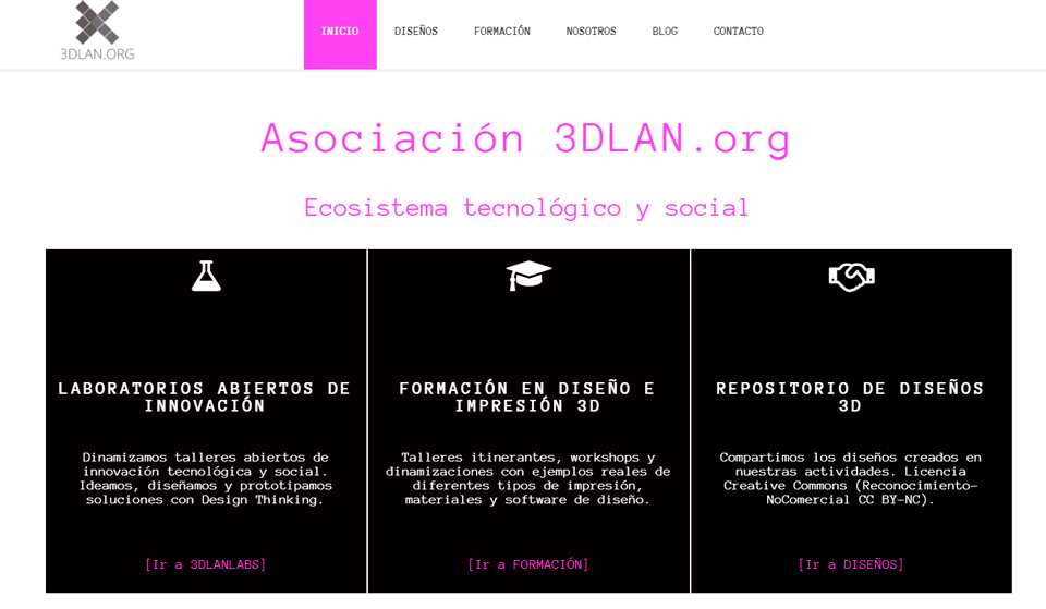 Página web de 3D Lan
