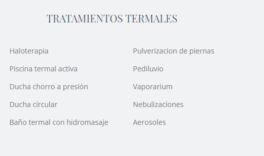 Tratamientos termales